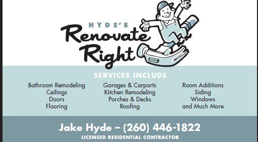 Hyde's Renovate Right - $500