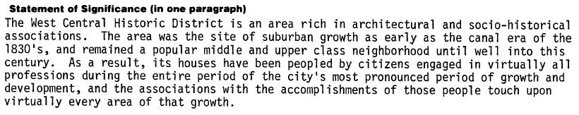 West_Central_NRHP_Description